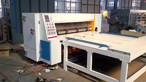 Semi Auto Corrugated Rotary Die Cutting Machine , Chain Feeding Rotary Die Cutter