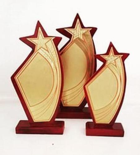 Customised wooden trophy