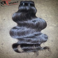 100% Unprocessed Cuticle Aligned Raw Wavy Black Body Wave Human Hair
