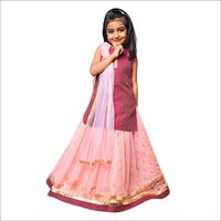 Kids Kurti With Ghagra