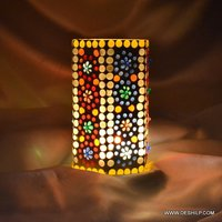 Squire Glass Mosaic Candle Holder