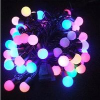 Christmas LED  lights New Year Lantern bulbs bubble bulbs colorful little balls Birthday party decorating lamps