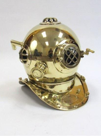 Diver Helmet Mark Five Solid Brass Plain