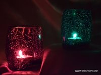 Creak Glass Colorful T Light Candle