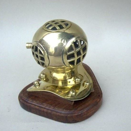 Diver Helmet Wood Base