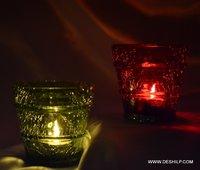 CREAK GLASS COLORFUL VOTIVE