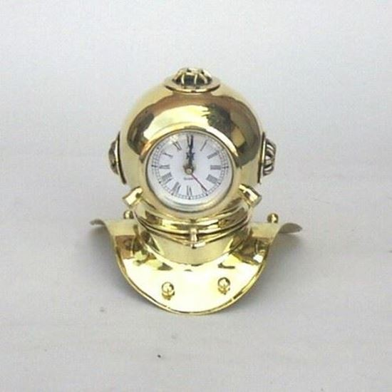 Brass Divers Helmet Clock