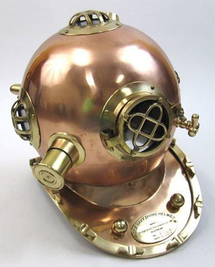 Copper & brass Divers Helmet Mark Five