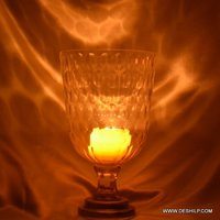 Glass Clear Hurricane Candle Holder