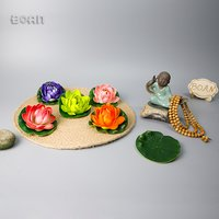 High quality Artificial Water lily Plastic flower for floral Decoration