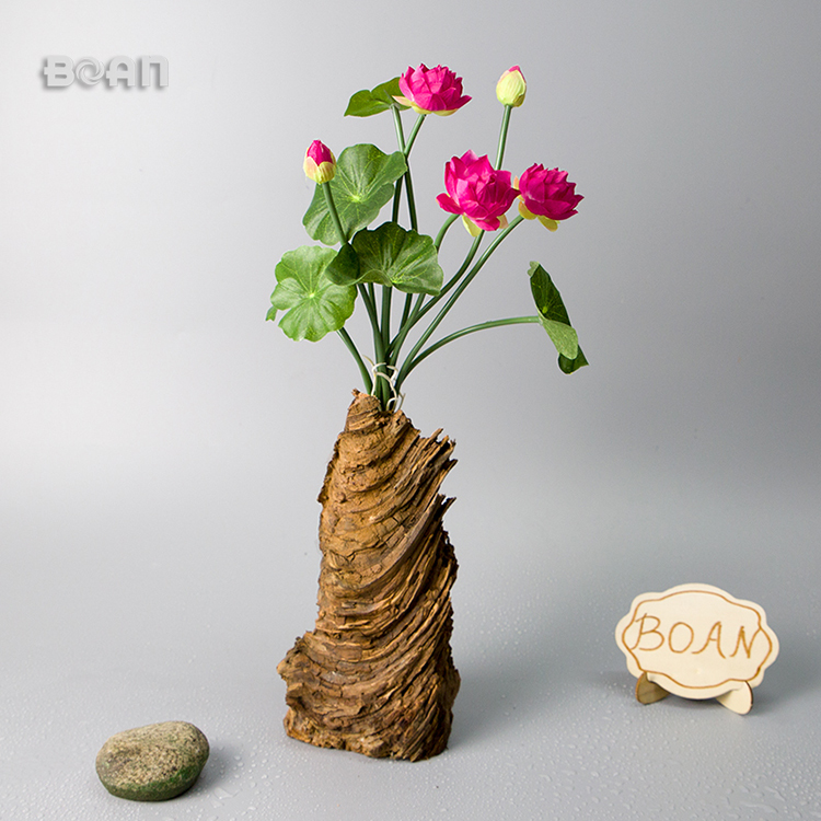 Artificial 6/8/9branches lotus Plastic flower for floral Decoration