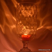 BIG GLASS HURRICANE CANDLE HOLDER
