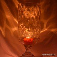 Big Glass Hurricane Candle Holder