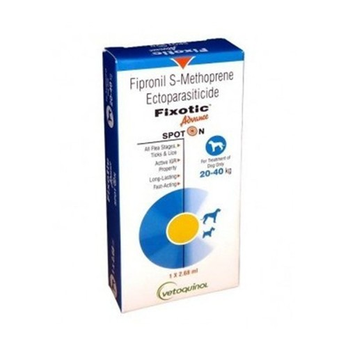 Fipronil Fixotic Spot On For Large Dogs 2.68ml (20-40kg)-FIPRONIL 9.8%+S-METHOPRENE