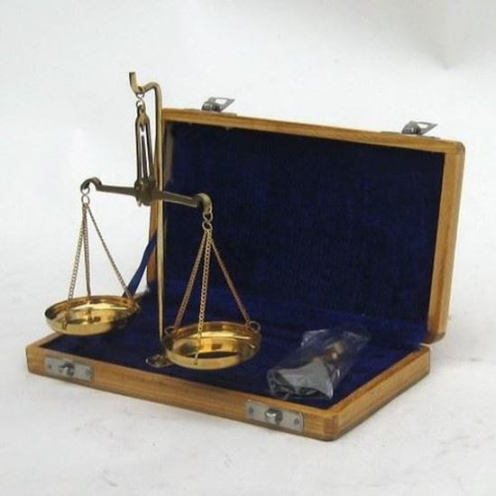 Solid Brass Scale Set in Velvet Box