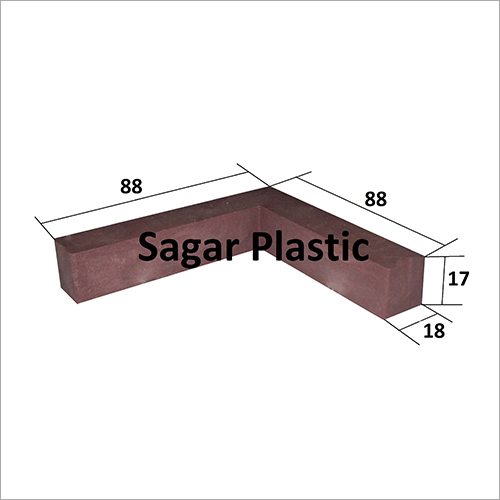 3l X 3l PVC Kitchen Furniture L Type Bracket