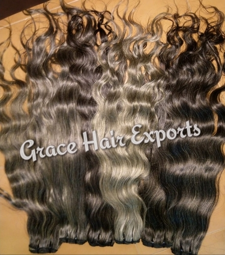 Grey Weft Hair Extension
