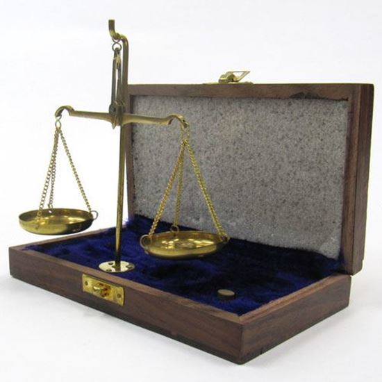 Scale with Weights 10 gm Wooden Box