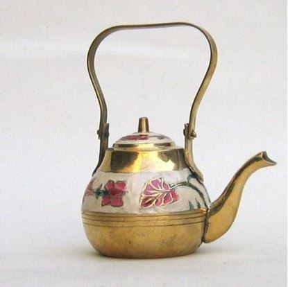 Brass Enamel Kettle