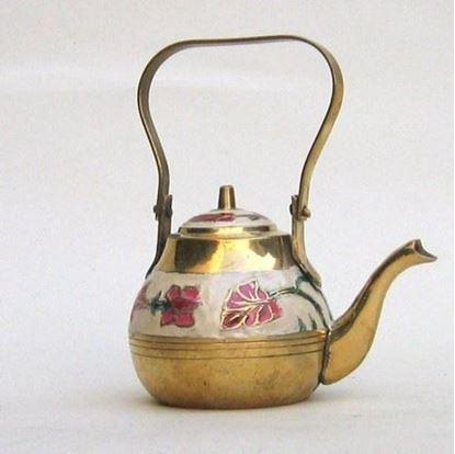 Brass Enamel Kettle
