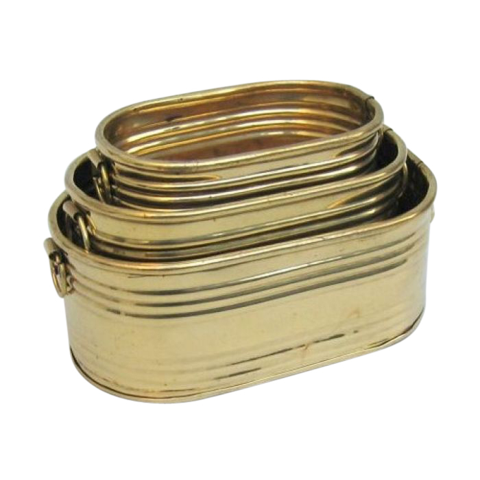 Brass Planter Oblong Set