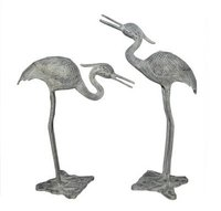 Large Crane Pair Statues