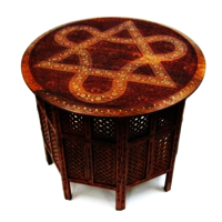 Carved Wooden Table Octagonal Stand
