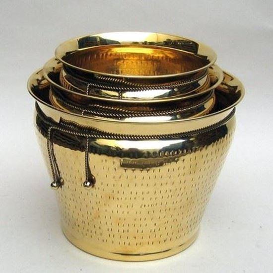 Rope Planter Set Solid Brass