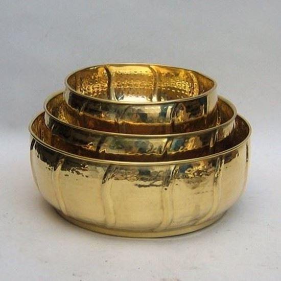 Solid Brass Planter Set