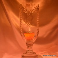 HURRICANE CANDLE HOLDER GLASS MADE
