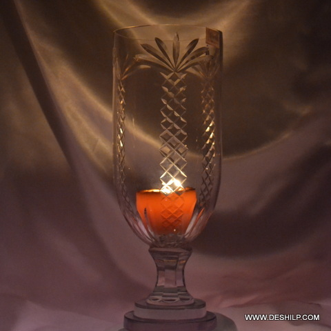 Hurricane Candle Holder Glass Made