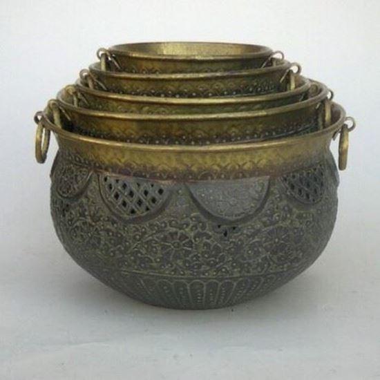 Brass Planter Set