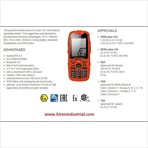 Intrinsically Safe Mobile Phones For Hazardous Area - UNIQUE