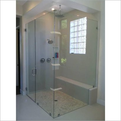 Solid Bathroom Shower Glass Partition