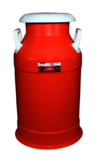 Plastic Milk Red Can