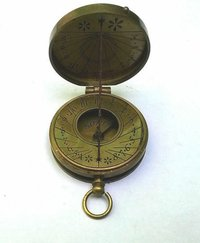 Vintage Brass Pocket Thread Compass