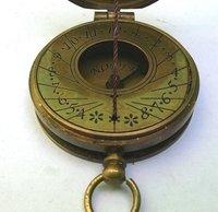 Vintage Brass Pocket Thread Compass