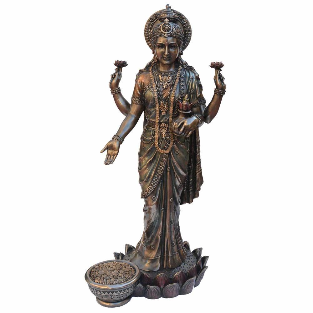 Aluminum Statue Laxmi Copper