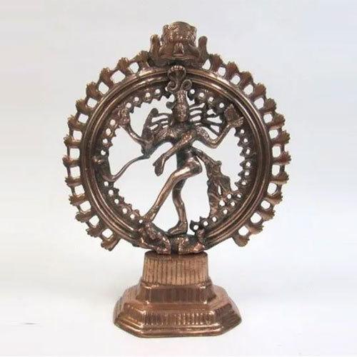 Aluminum Statue Nataraj Copper Finish