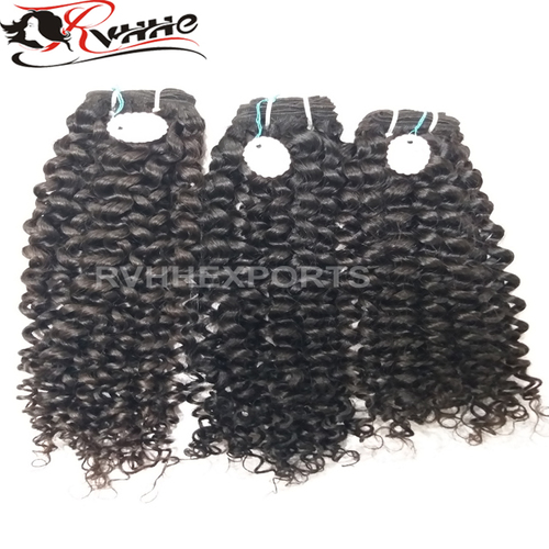 100% Direct Curly Natural Virgin Human Hair Extension Bundles