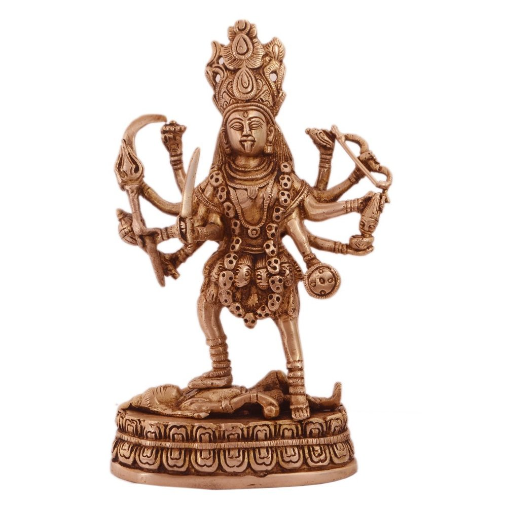 Aluminum Statue Kali Copper Finish