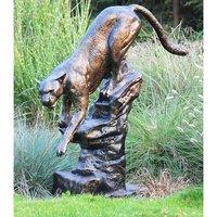 铸铝美洲狮雕塑