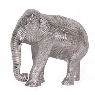 Idol Aluminum Animal Figurine Handmade Elephant Statue Home Decor