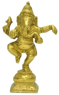 Plain or Antique Dancing Ganesh Statue