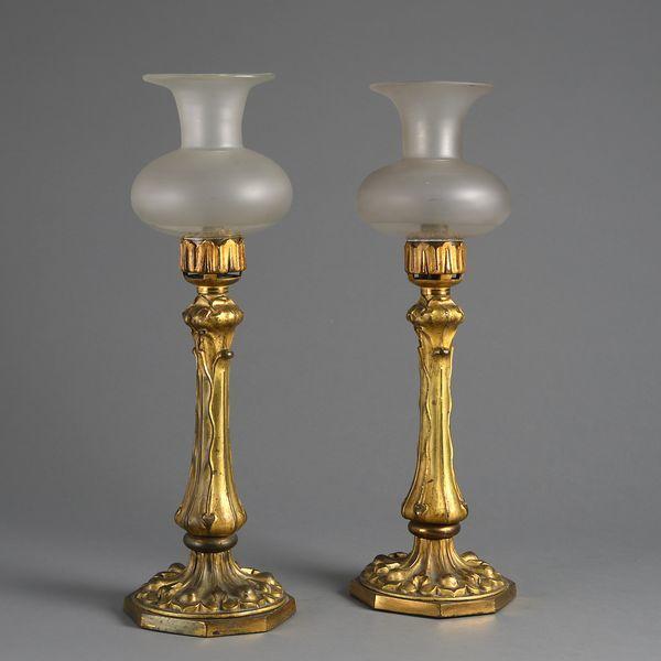 Classical Brass Pillar Candle Holder