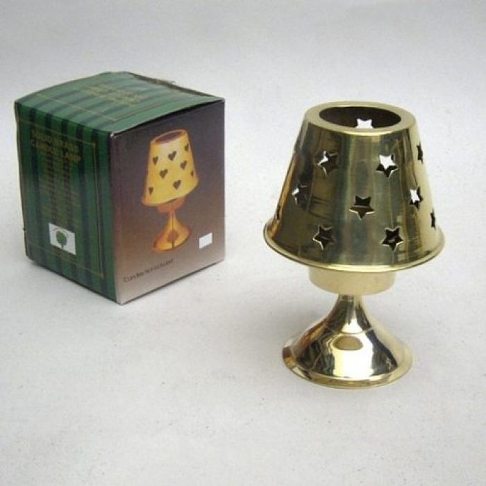 Solid Brass Candle Lamp