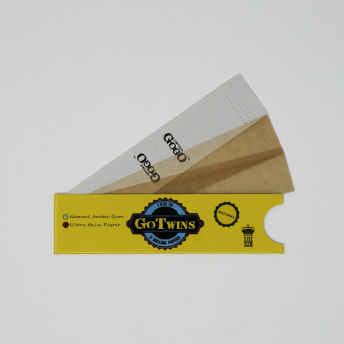 2 Rolling Paper, 2 Filters King Size Slim Unbleached Brown Rolling Paper