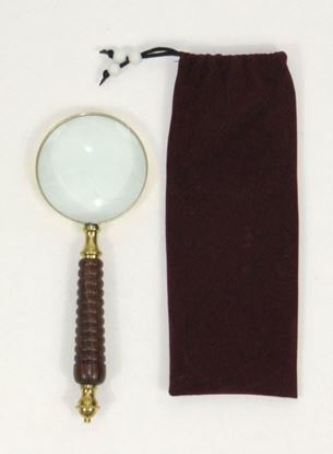 Brass Magnifying Glass with Velvet Pouch