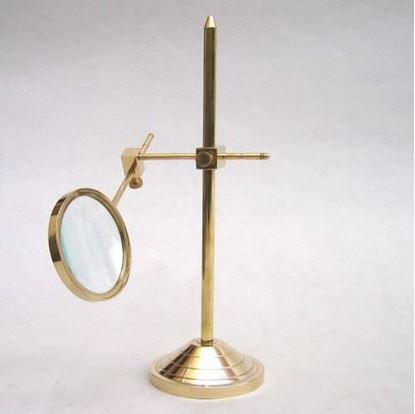 Solid brass magnifier stand Adjustable