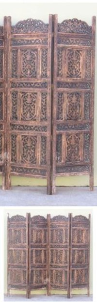 Carved Wooden Screen Chinar Patti